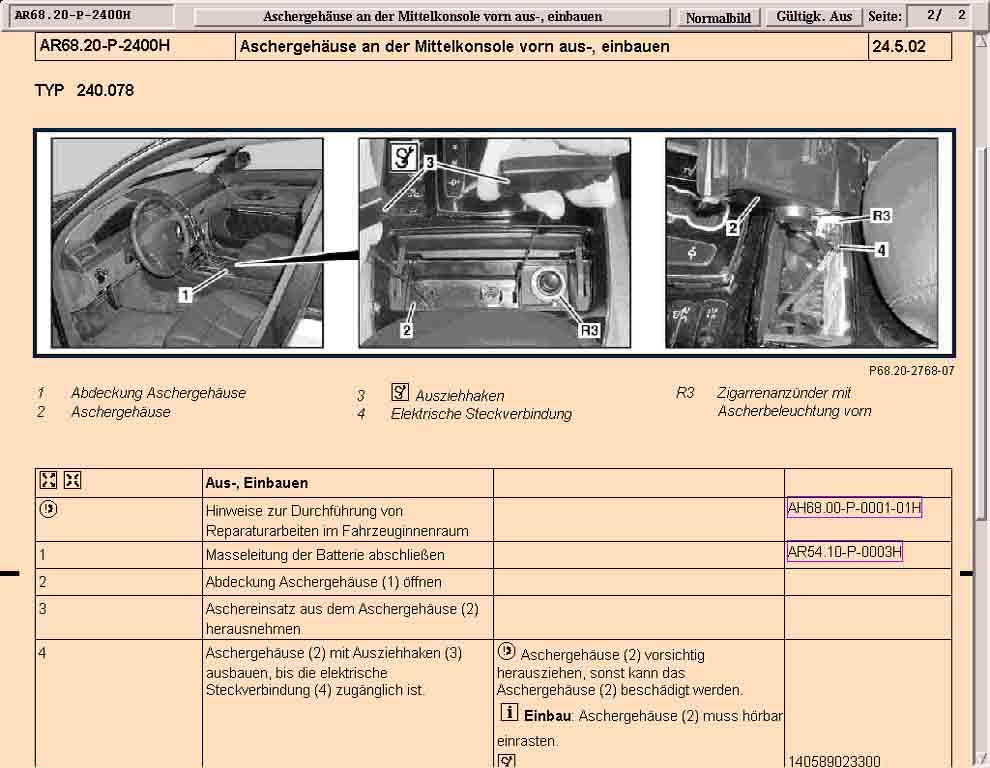 Beispielsseiten Mercedes-Benz Werkstatt-Informations-System (MB WIS)